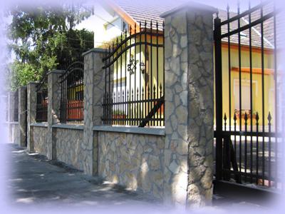 Drót kerítés építés