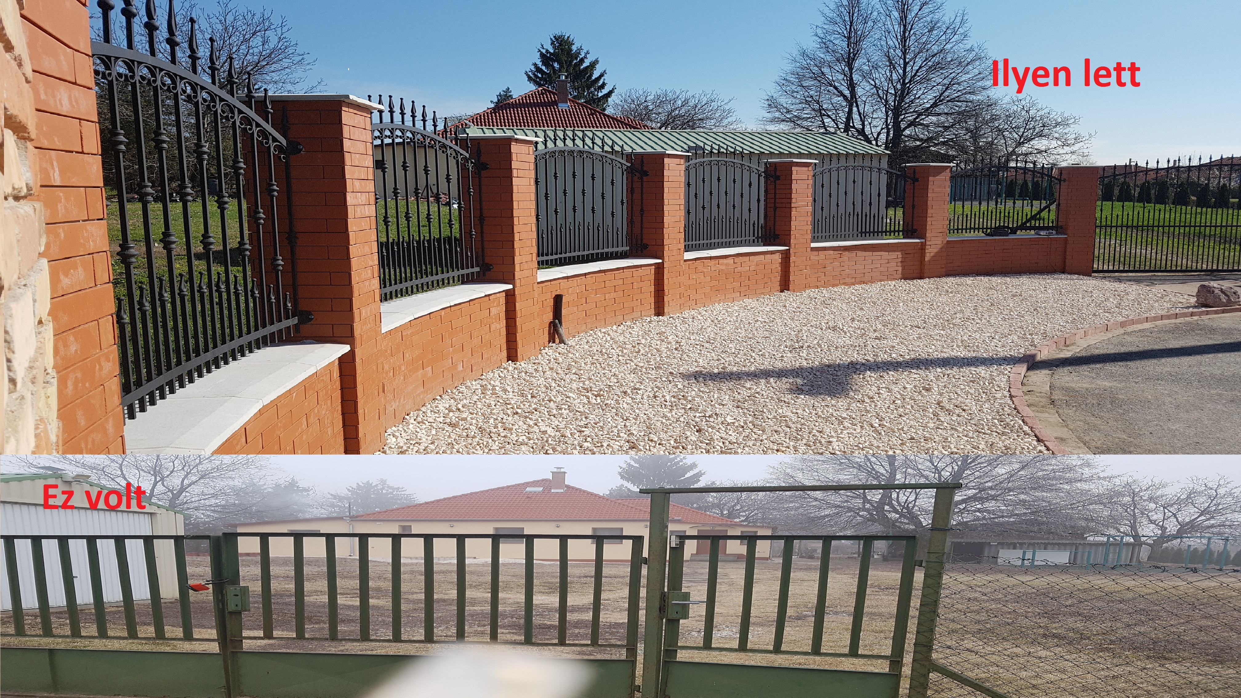 kerítés falazás, kerítés burkolás barabás téglával