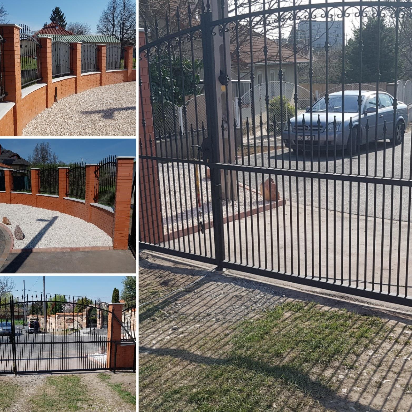 kerítés falazás, kerítés burkolás